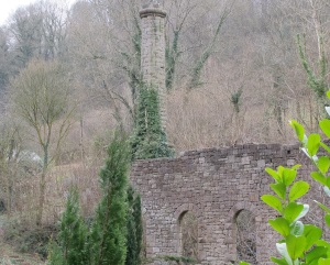 Ruin of old paper mill