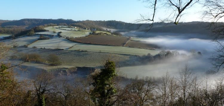 The Wye on a misty December morning